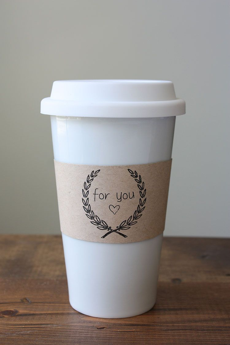 Printable Cup Sleeves Perfect Gift For Cup Sleeve