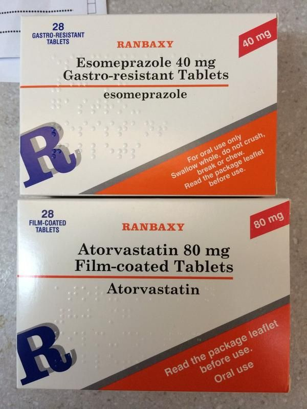 Gastro Tablets esomeprazole 40 mg gastro resistant tablets and atorvastatin 80 mg
