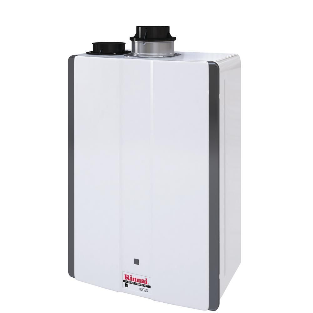 Rinnai Super High Efficiency 7 5 Gpm Residential 160 000 Btu Natural Gas Interior Tankless Water Heater Rucs75in
