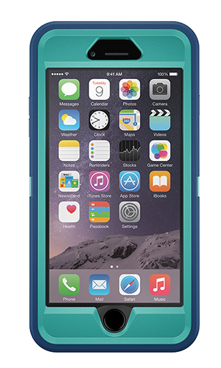 best loved 89eab 8e4e4 Otterbox Defender for iPhone 6 Plus // Light teal shell, Deep water ...