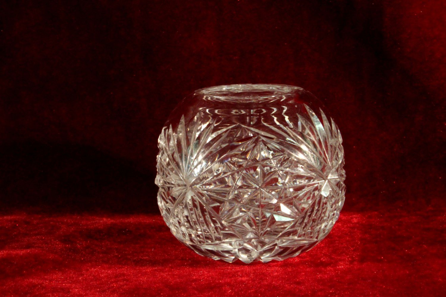 Abp cut crystal rose bowl vase with star of david and radiant star abp cut crystal rose bowl vase with star of david and radiant star reviewsmspy