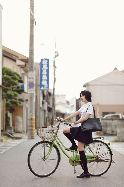 Makoto Konno: The Girl Who Leapt Through Time  by Ara (A-ra) I will always hate this bike