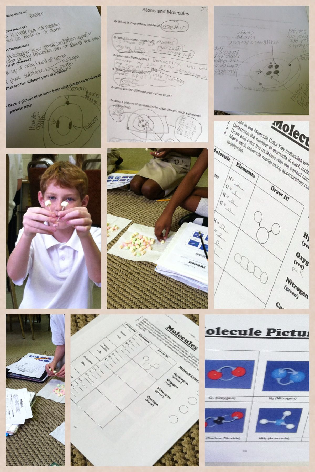 Investigating Matter Atoms And Molecules Using Colored