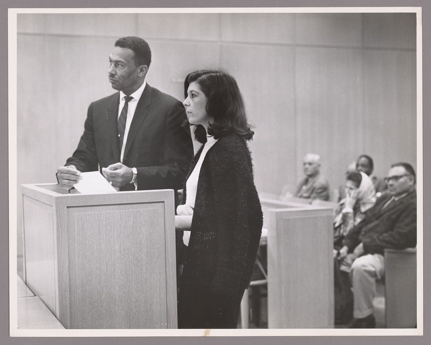 Jean Torman and assistant Public Defender Fred Smith (Two