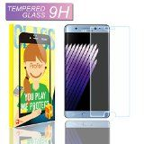 Film Protection écran Samsung Galaxy Note 7Profer - Accessoire portable en Verre Trempé(Couvert non entier) Transparent ultra résistant (incassable inrayable 9H) et Ultra Slim (033mm) Bords arrondis.