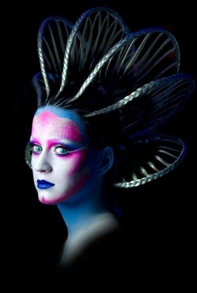 Katy Perry alien head/hair piece
