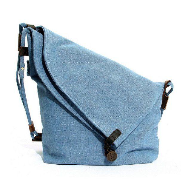 f826c76c1d7c Women Men Canvas Crazy Horse Gray Button Shoulder Bags Cowhide Casual  Crossbody Bags