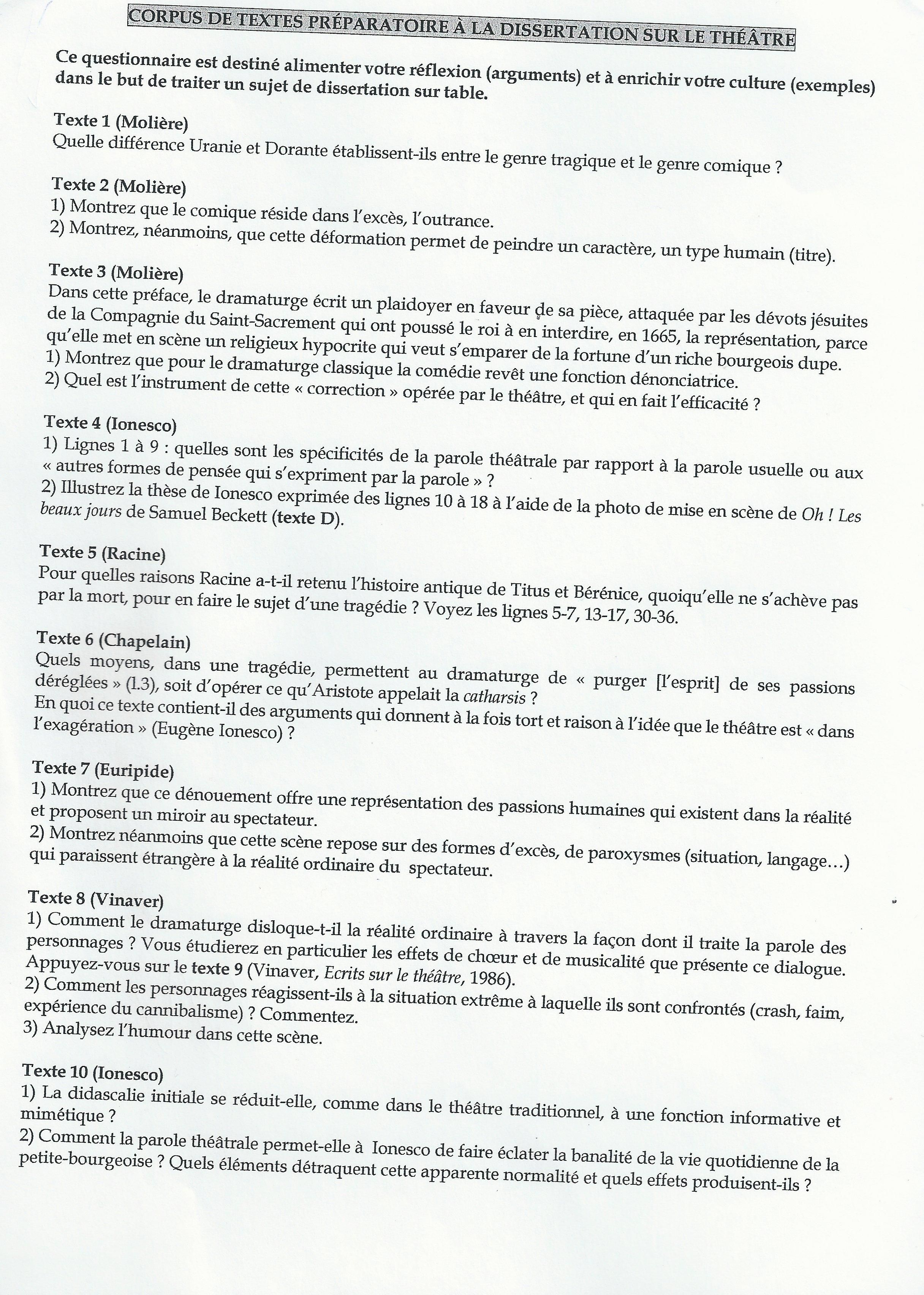 Ecrire Un Plan De Dissertation.