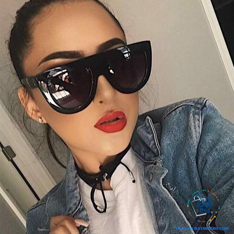 Italy Brand women luxury Sunglasses celebrity cat eye designer rivet glasses