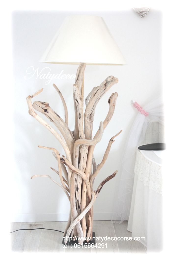 lampadaire en bois flott natydeco lampes pinterest driftwood. Black Bedroom Furniture Sets. Home Design Ideas