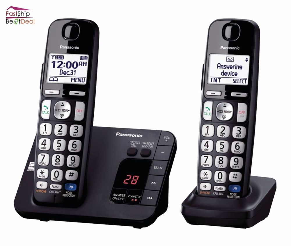 Panasonic Cordless Telephone Headset Answering Machine System Home Office Phone