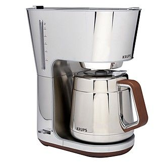 Beautiful 10 cup coffee maker from Krups Silver Art Collection