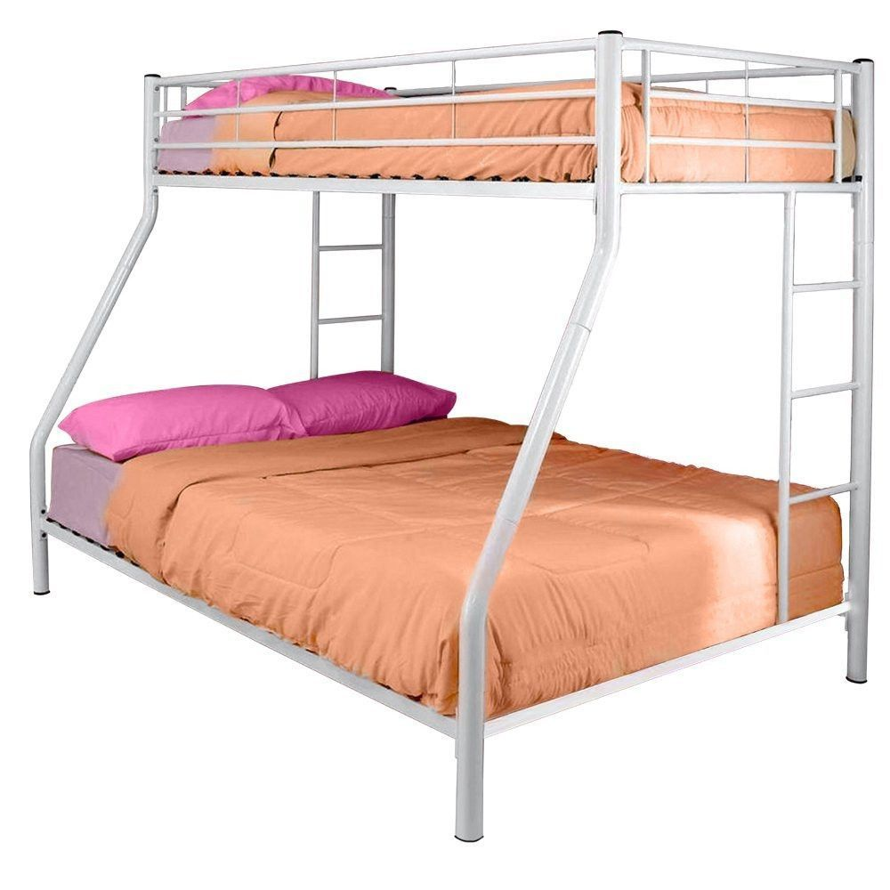 Best White Metal Twin Over Full Bunk Bed White Bunk Beds 400 x 300