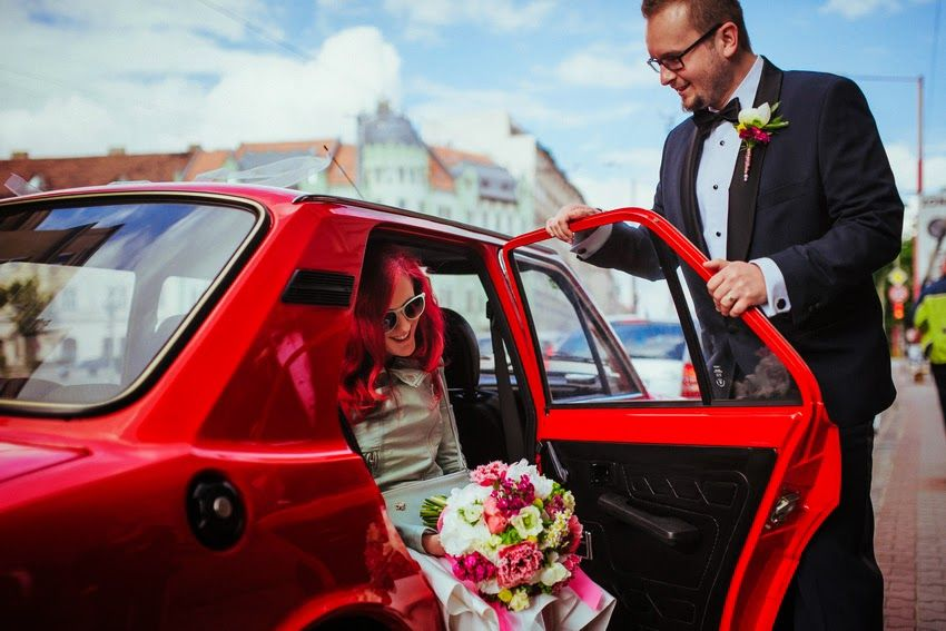 Wedding car to match bride's hair colour!