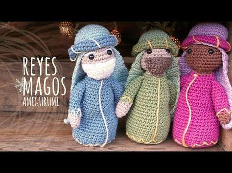Tutorial De Amigurumis Navideños : Tutorial belén amigurumi part reyes magos nativity english