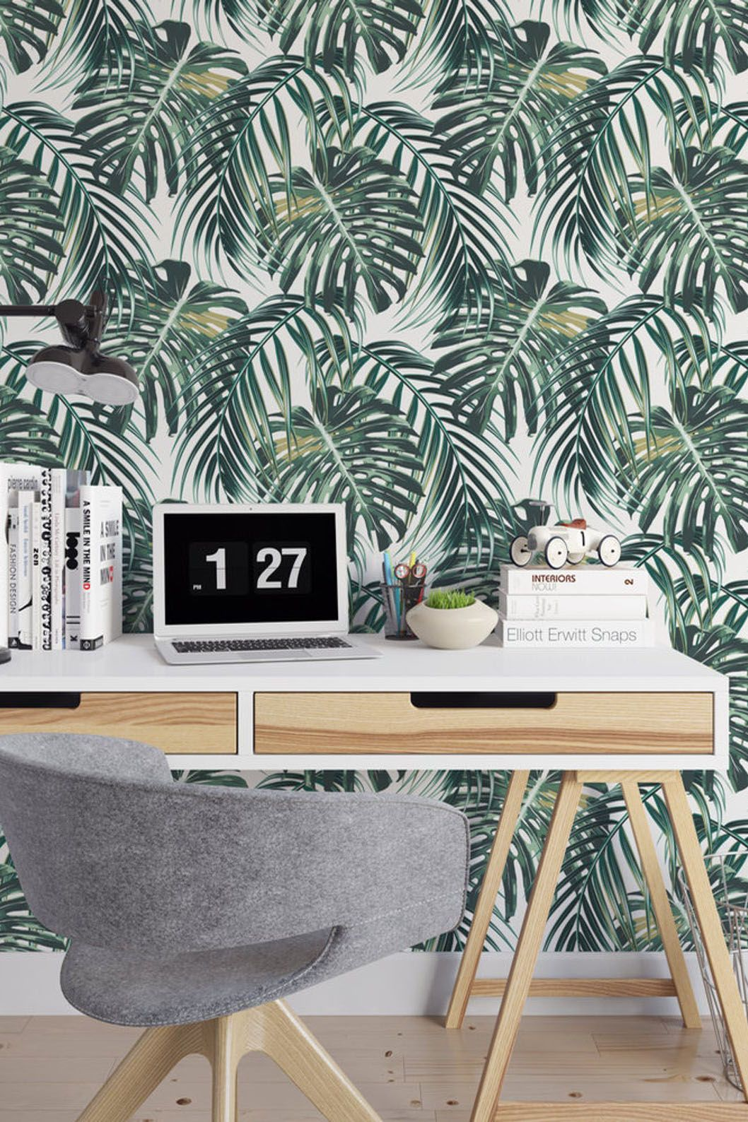 Botanical Removable Wallpaper B134 27 Etsy Removable Wallpaper Decor Peel And Stick Wallpaper