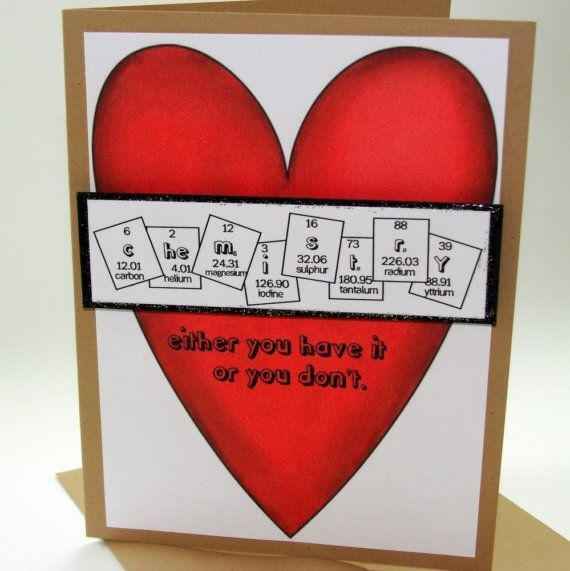 17 best images about Valentine card – Chemistry Valentines Day Card
