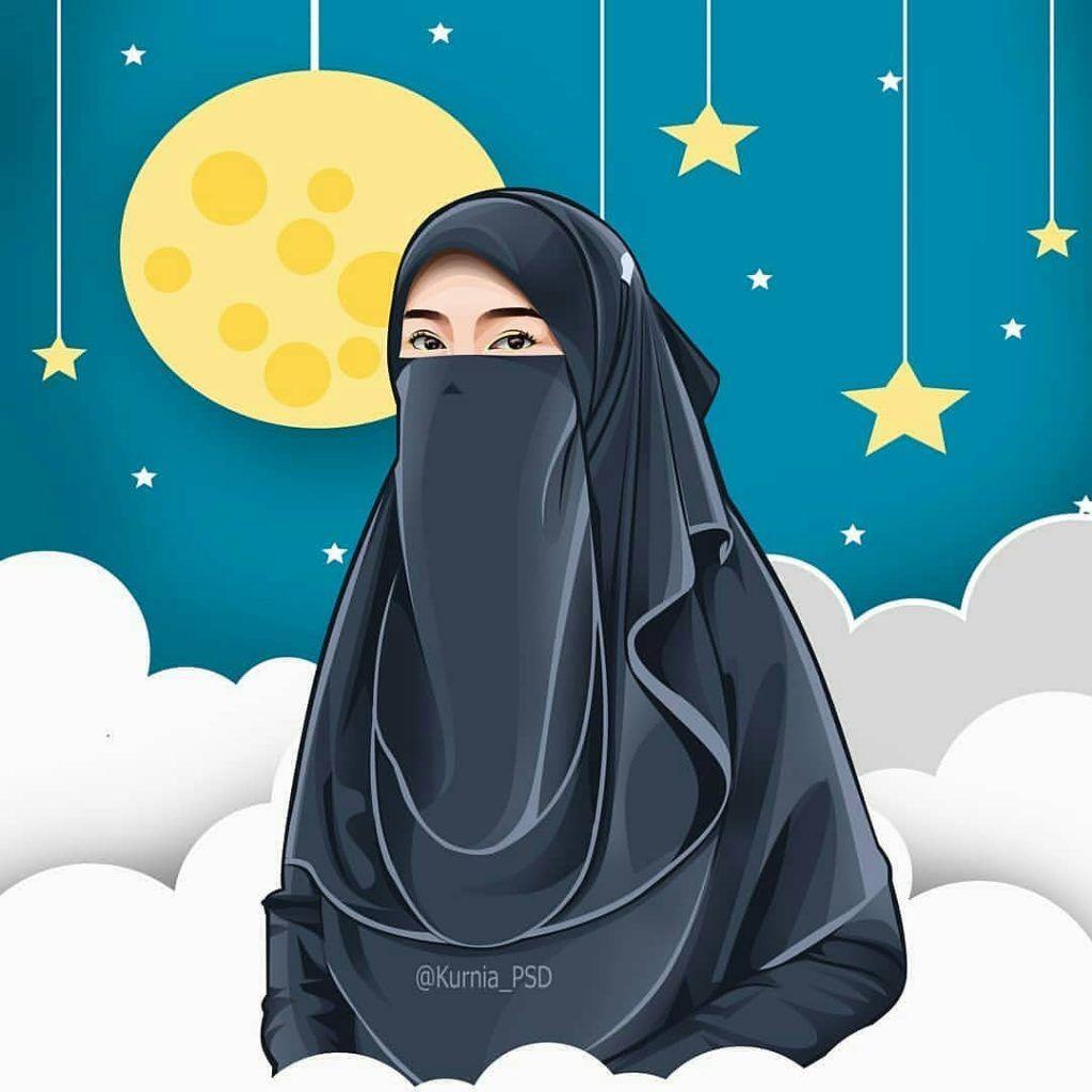 Menakjubkan 30 Gambar Kartun Muslimah Bercadar Berkacamata Gambar Kartun Ku Kartun Gambar Gambar Kartun