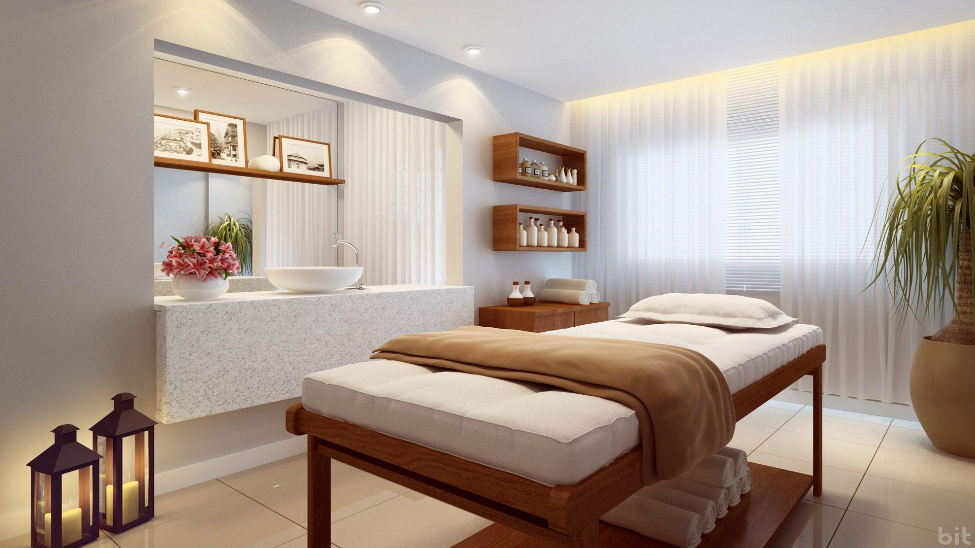 Sala de massagem spa pesquisa google id es cabinet - Decoracion reiki ...