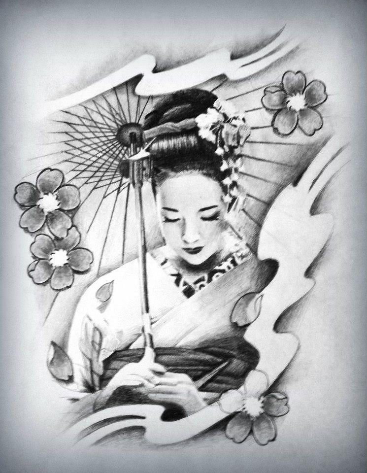Estremamente Tattoo Geisha - Tattoo e Piercing | Tatuaggi da geisha, Tatuaggi BI93
