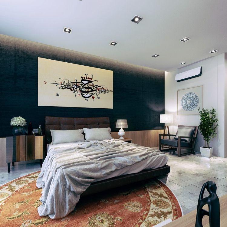 elegantes Schlafzimmer im perser Stil - dunkle Farben Deco ideas
