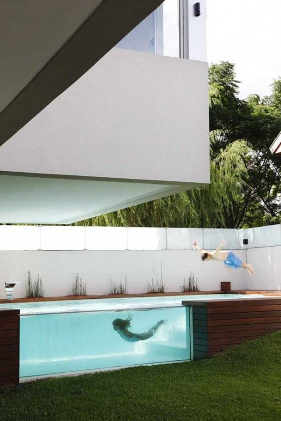 House with Fantastic Elevated Swimming Pool – Devoto House by Andres ...
