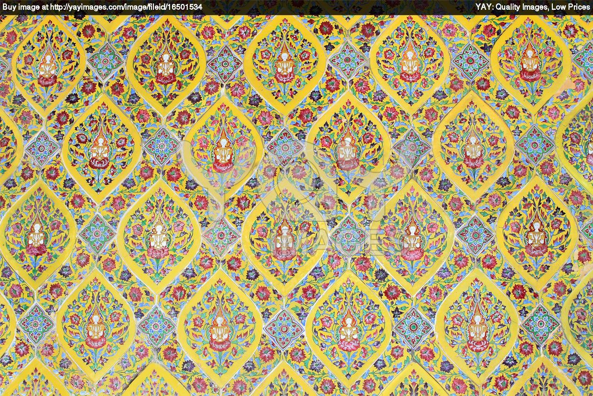 Free Patterns Wall Art | ... free image of thai art wall pattern for ...