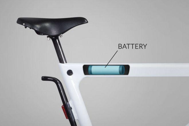 バッテリーはトップチューブに内蔵 電動アシスト自転車 自転車 アシスト