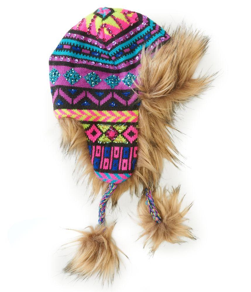 Kids' Faux Fur Sparkle Trapper Hat - PS From Aeropostale ...