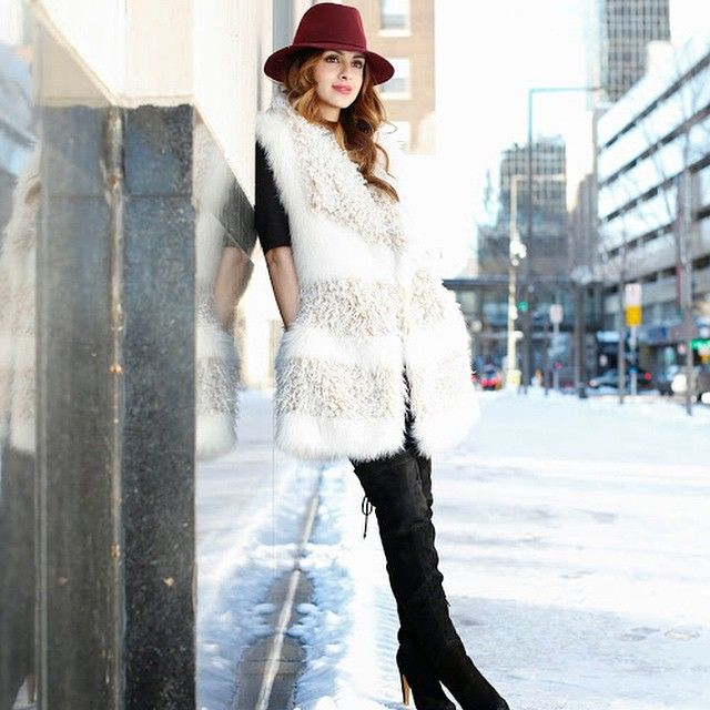 Brrr...it's cold out! Staying warm in this oversized vest on MiaMiaMine.com today #ootd #style #fashion