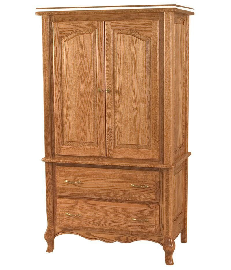 French Country 2 Drawer Door Armoire