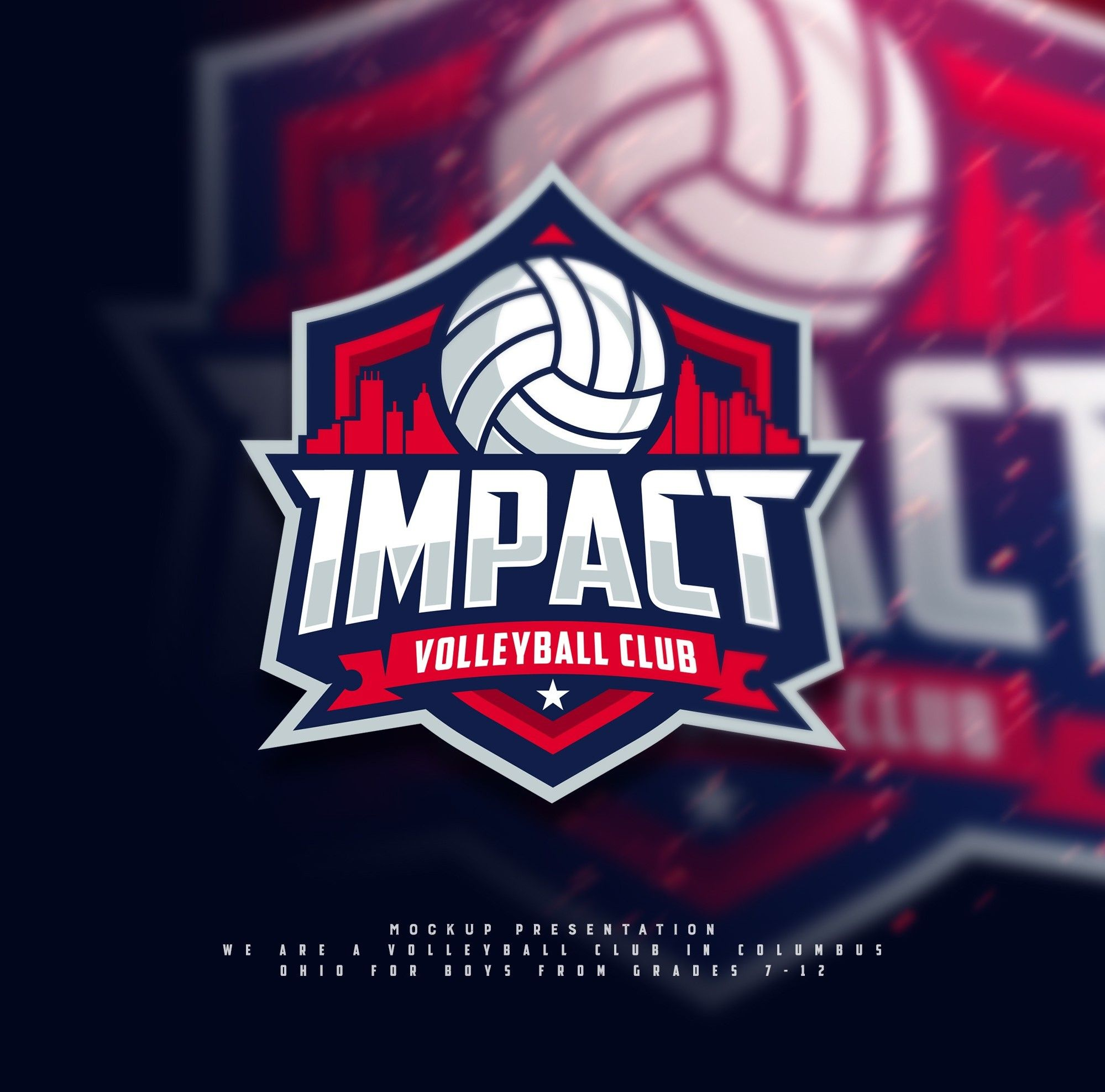 Logo Design For A Volleyball Club In Columbus Ohio For Boys From Grades 7 12 Logo Branding Business Sta Volleyball Designs Startup Infographic Logo Design