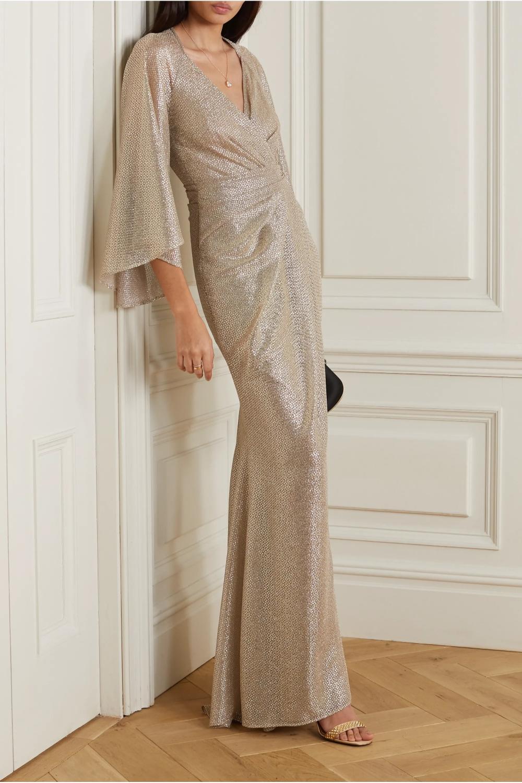 Gold Bologne Wrap Effect Metallic Voile Gown Talbot Runhof Net A Porter Gowns Of Elegance Talbot Runhof Glamourous Evening [ 1500 x 1000 Pixel ]