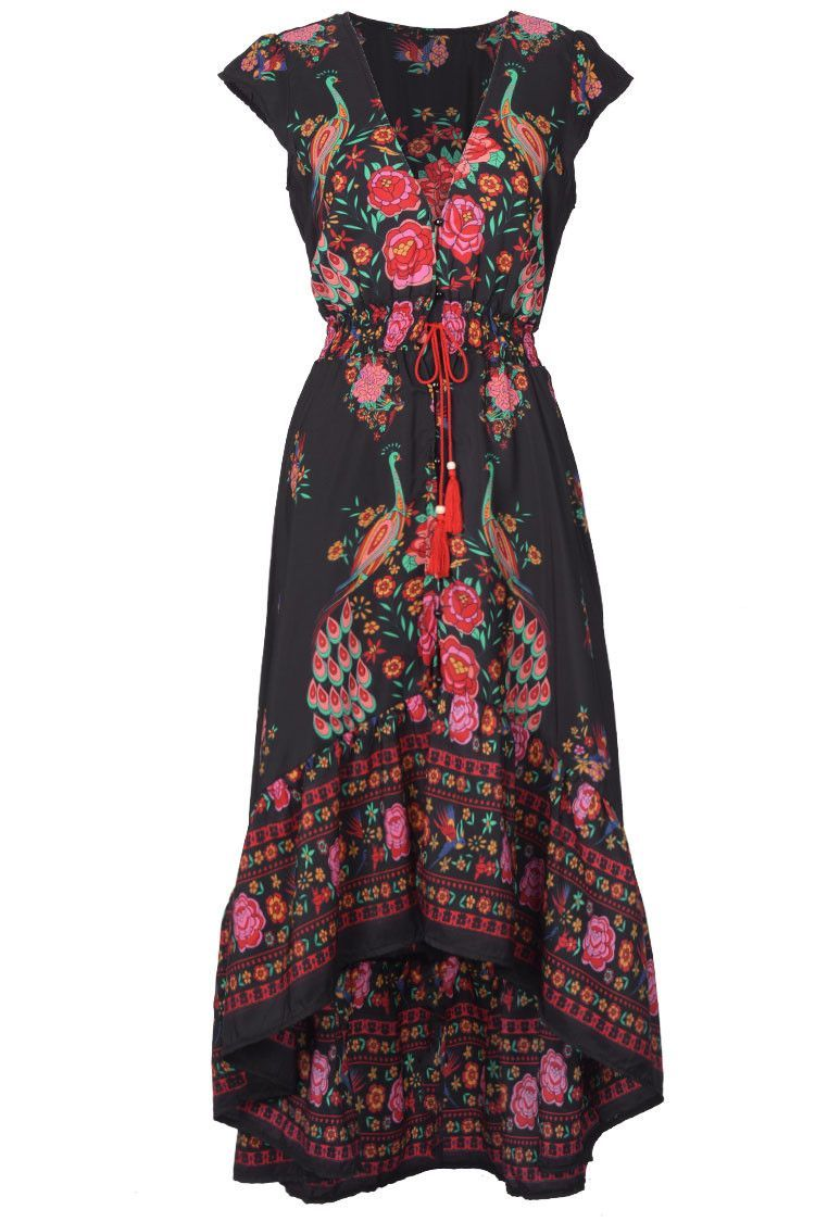36f6858fb24 Cupshe So Gifted Vintage Printing Maxi Dress