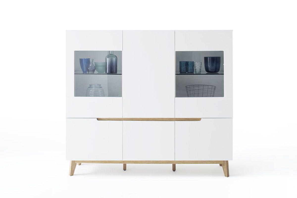 Cervo Typ47 Dressoir Sideboard Glazen Planken Houten