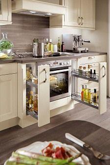 Apothekerschrank für küche  apothekerschrank einbauküche creme norina 7365 | Küchen | Pinterest ...