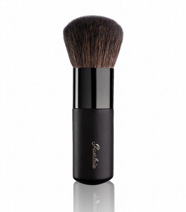 This Terracotta Kabuki brush Made with Goats Hair  Bronzing Powder Brush by Guerlain