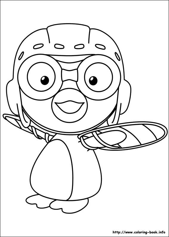 Pororo Coloring Picture 색칠공부 뽀로로 Pinterest Pororo Coloring Pages