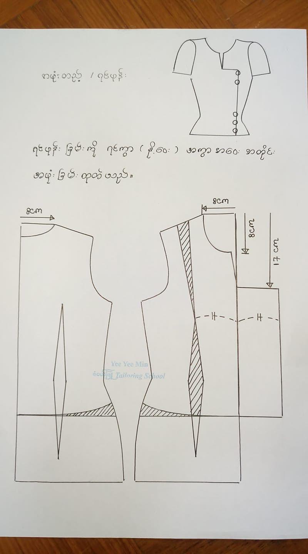 Pin by Jue Jue on myanmar dress pattern   Blouse pattern sewing ...