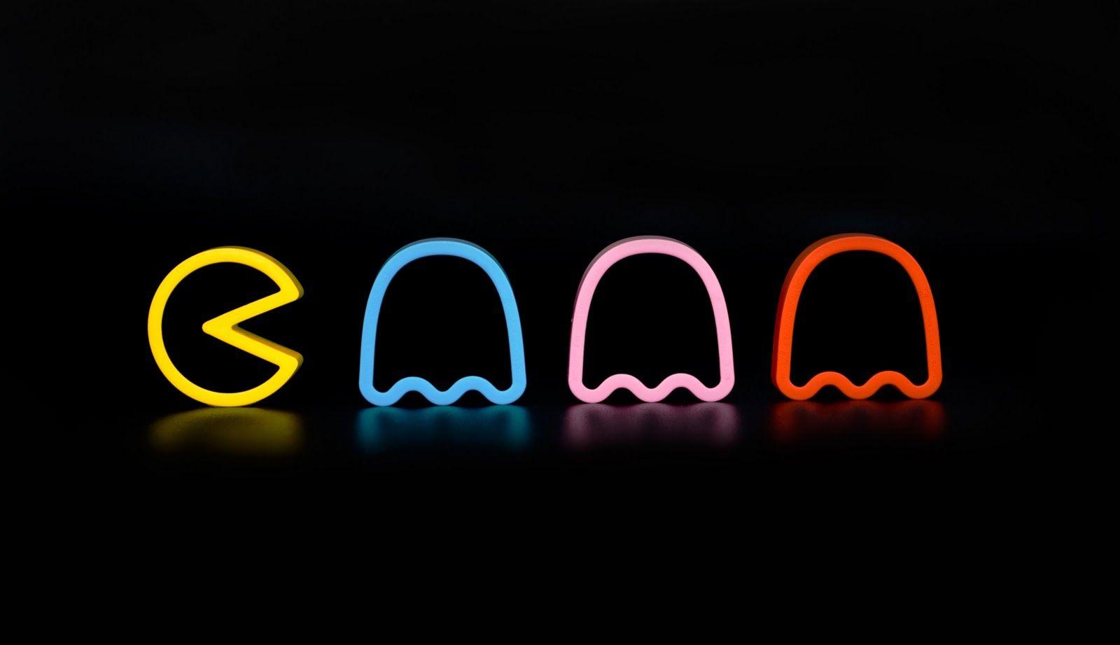 Neon Pacman Fondos De Pacman Fondo Para Laptop Pantalla De Laptop