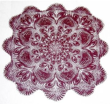 Lavori 5-29 - Square Doily In Knitted Lace By Herbert ...