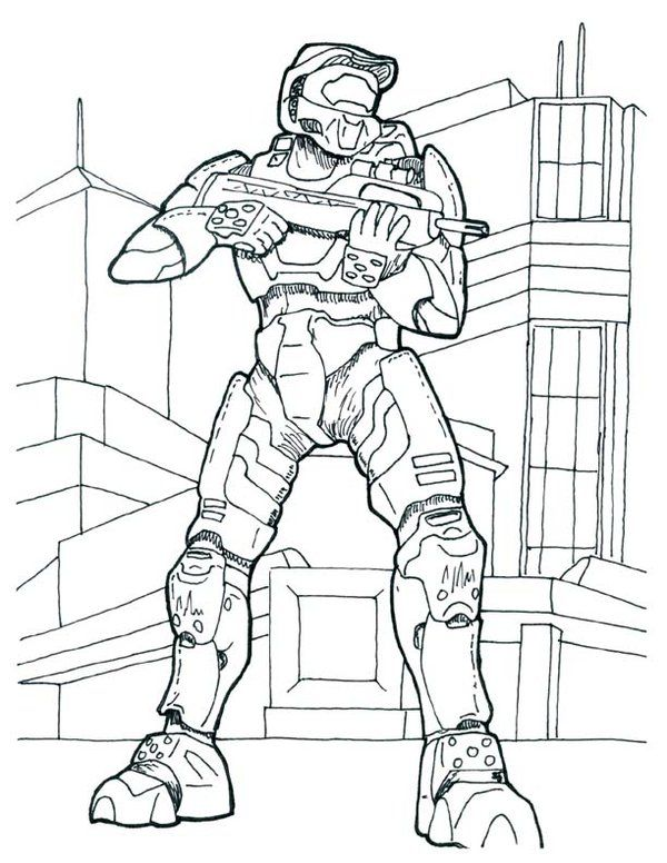 Free Printable Halo Coloring Pages For Kids | Pinterest