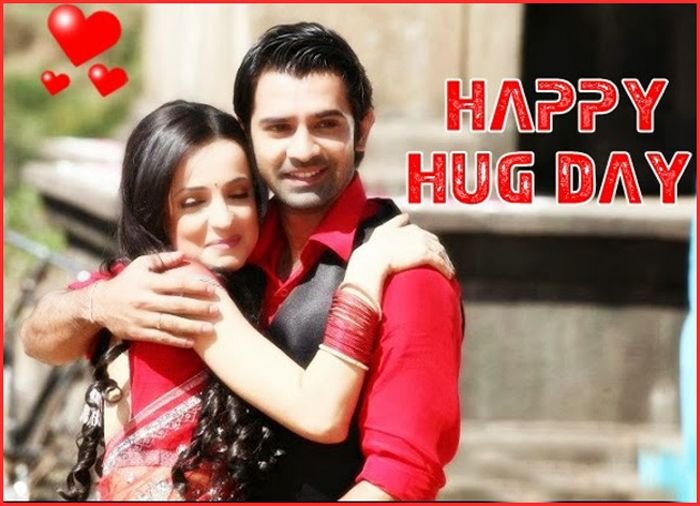 """#Valentine's #HugDay - """"During the lowest phase of life a simple #Hug from that loved person can turn your tears to joy."""""""