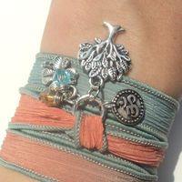 Tree of Life Silk Wrap Bracelet