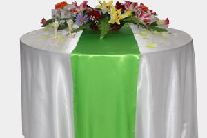 Table runners, Satin Table Runners Rental | Chair Cover Rentals $3 different colors tho.