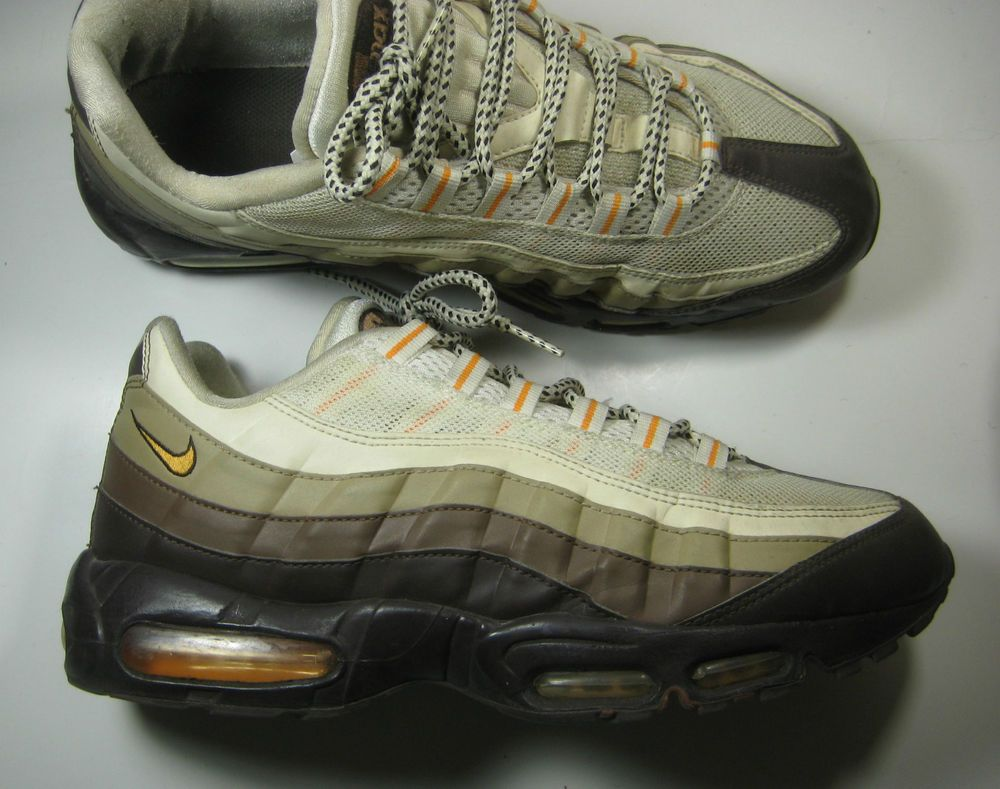 check out 24076 50ef1 NIKE AIR MAX 95 Rich Brown Cream Orange Leather Running RARE Nike  RunningCrossTraining