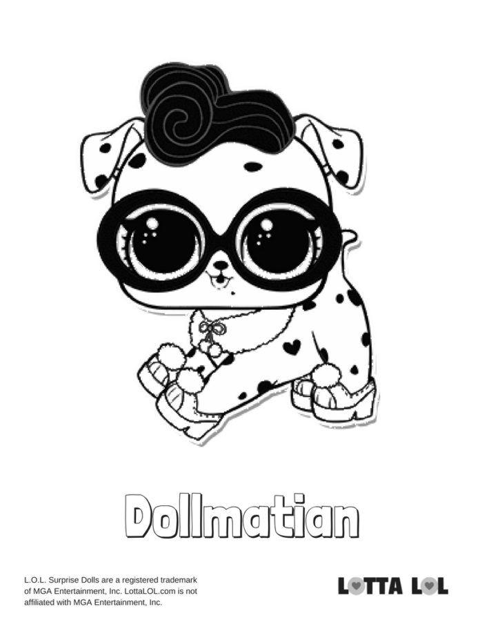 dollmatian coloring page lotta lol