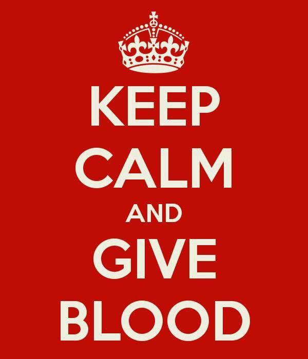 Keep calm and....give blood! :-D Wordt bloeddonor, een kleine moeite maar zeer bruikbaar! Ik ben al een aantal jaar bloeddonor.