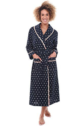 Beautiful Alexander Del Rossa Alexander Del Rossa Womens Dotted Cotton  Summer Robe 7de72c81f
