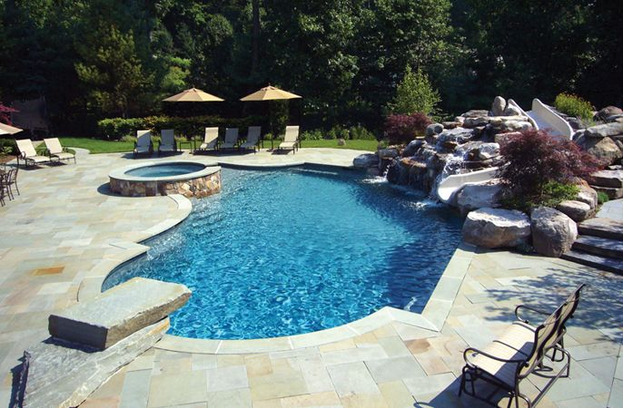 backyard designs with inground pools | pool design & pool ideas